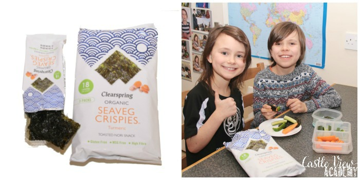 Castle View Academy reviews Clearspring Organic Seaveg Crispies Turmeric Multi-pack