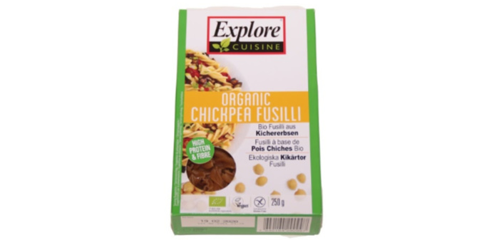 Castle View Academy reviews Explore Cuisine Organic Chickpea Fusilli