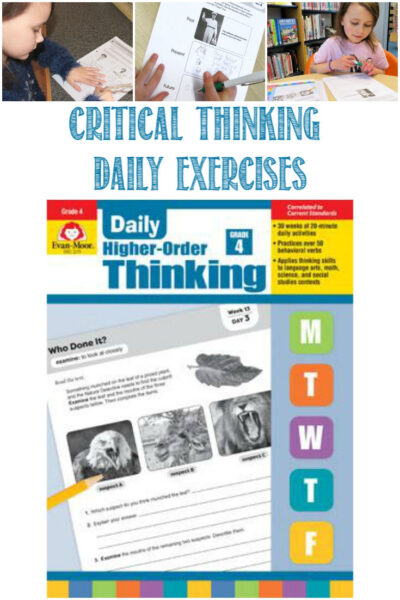 Critical thinking skills with Evan-Moor Daily Higher-Order Thinking, a Review by Castle View Academy homeschool