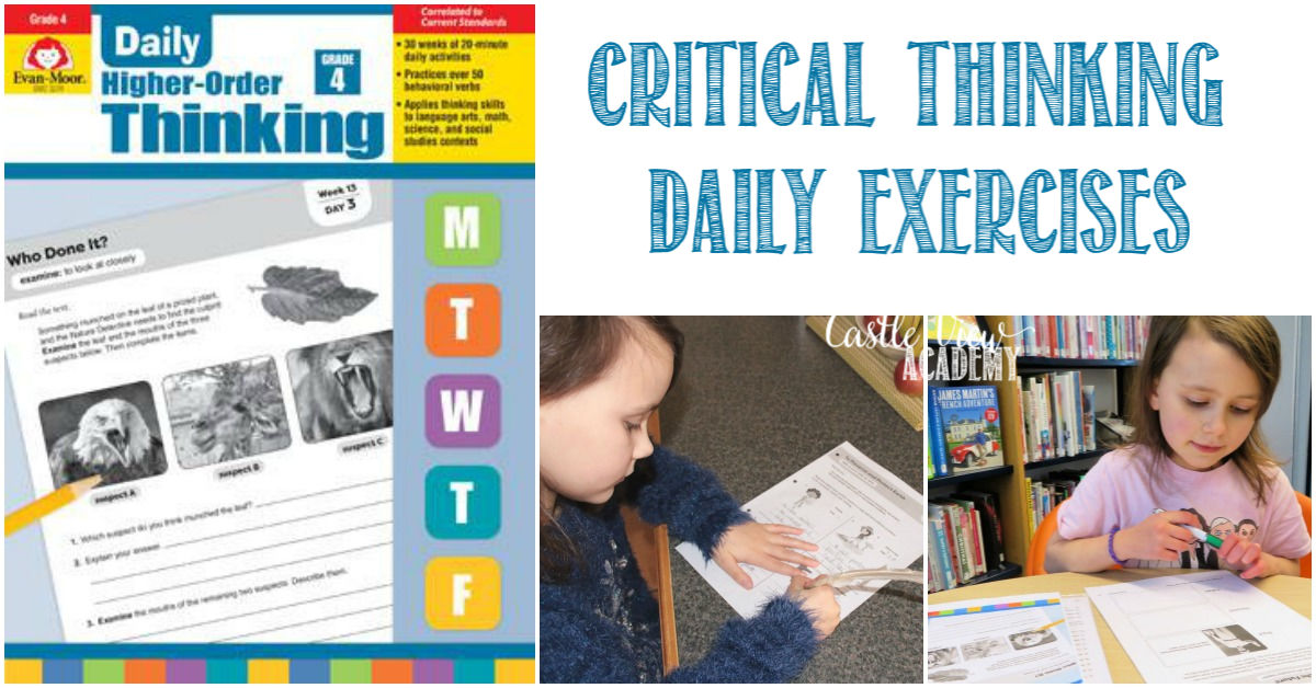 Critical thinking skills with Evan-Moor Daily Higher-Order Thinking, a Review by Castle View Academy