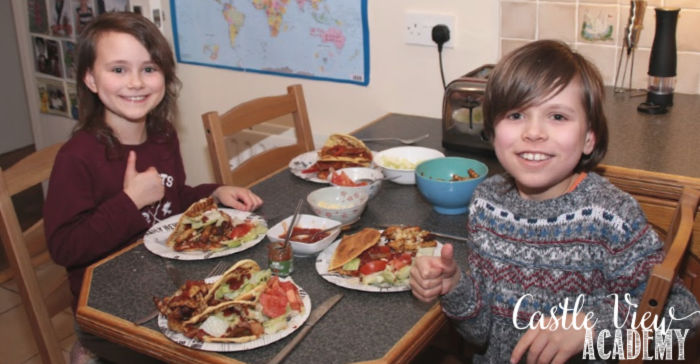 Friday Fajitas at Castle View Academy homeschool