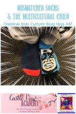 Mismatched socks and the multicultural child - MKB Blog hop at Castle View Academy homeschool