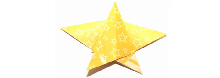 Origami star at Castle View Academy homeschool