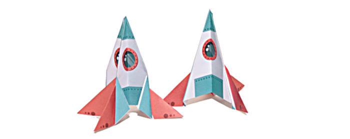 Space Rocket origami at Castle View Academy homeschool