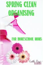 Spring Clean Organising For Homeschool Moms with Castle View Academy homeschool
