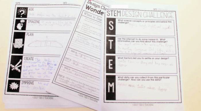 Stem Challenges with close reading and questions at Castle View Academy homeschool