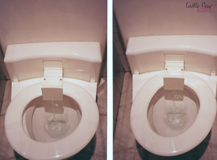 Toilet in Monte Carlo with Castle View Academy