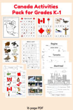 Canada Activities Pack Grade K-1 by Wise Owl Factory for Castle View Academy homeschool