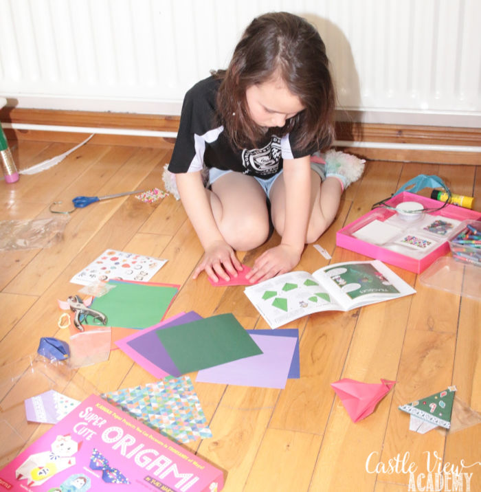Castle View Academy homeschool folding cute origami