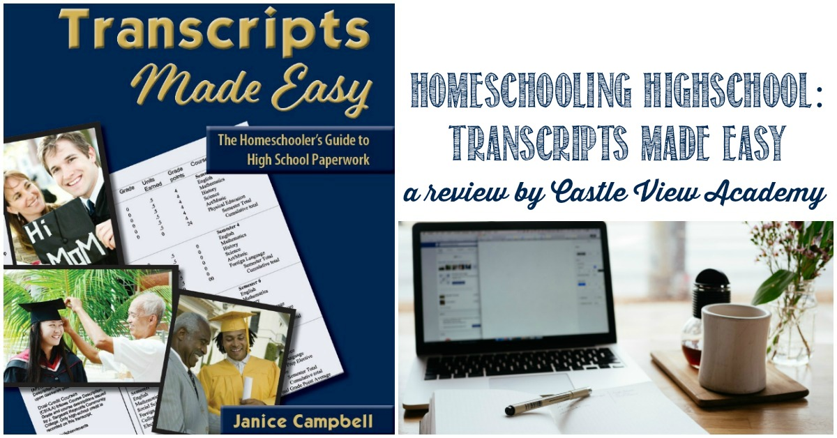 Homeschool Transcripts Made Easy, a review by Castle View Academy