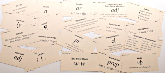 IEW Nose Tree flashcards