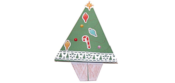 Origami Christmas Tree at Castle View Academy homeschool