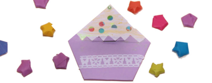 Origami cupcake at Castle View Academy homeschool