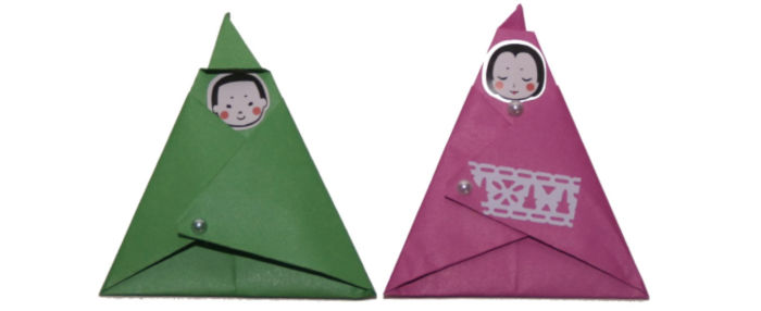 Origami hina dolls at Castle View Academy homeschool