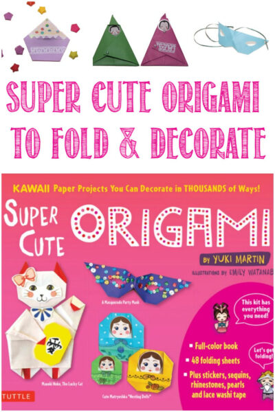Super Cute Origami Projects To Fold and Decorate reviewed by Castle View Academy homeschool