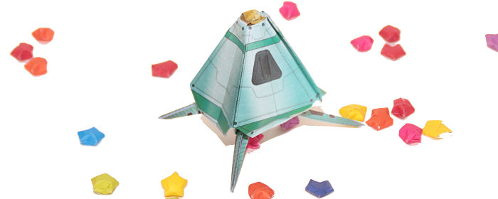 space pod origami at Castle View Academy homeschool