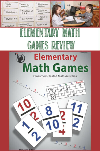Elementary Math Games Review by Castle View Academy homeschool