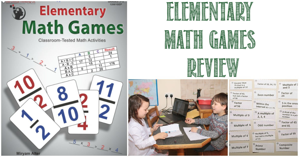 Elementary Math Games Review by Castle View Academy