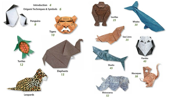 Endangered Animals Origami