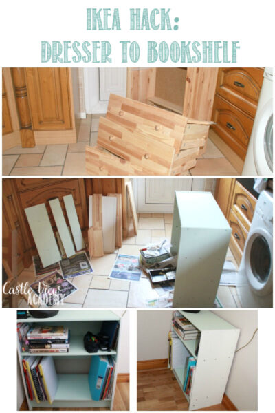 IKEA Hack - DIY Dresser to Bookshelf with Castle View Academy homeschool