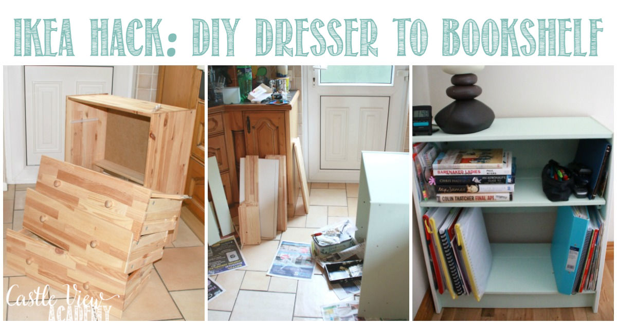 IKEA Hack - DIY Dresser to Bookshelf with Castle View Academy