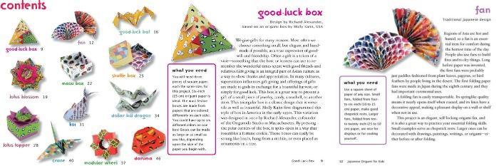 Inside information from Japanese Origami for Kids kit