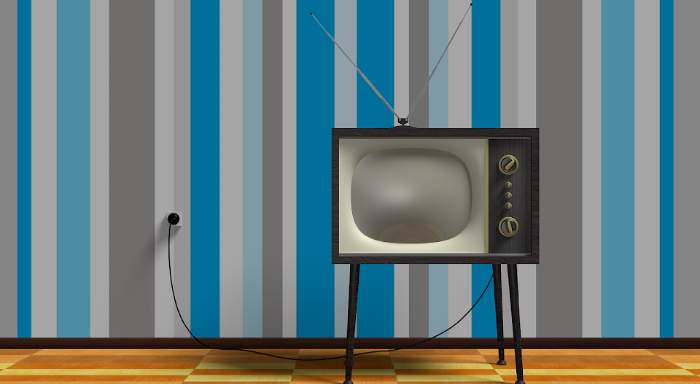 old TV set