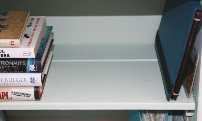 using drawer fronts for shelving