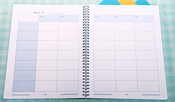 2-page weekly planners