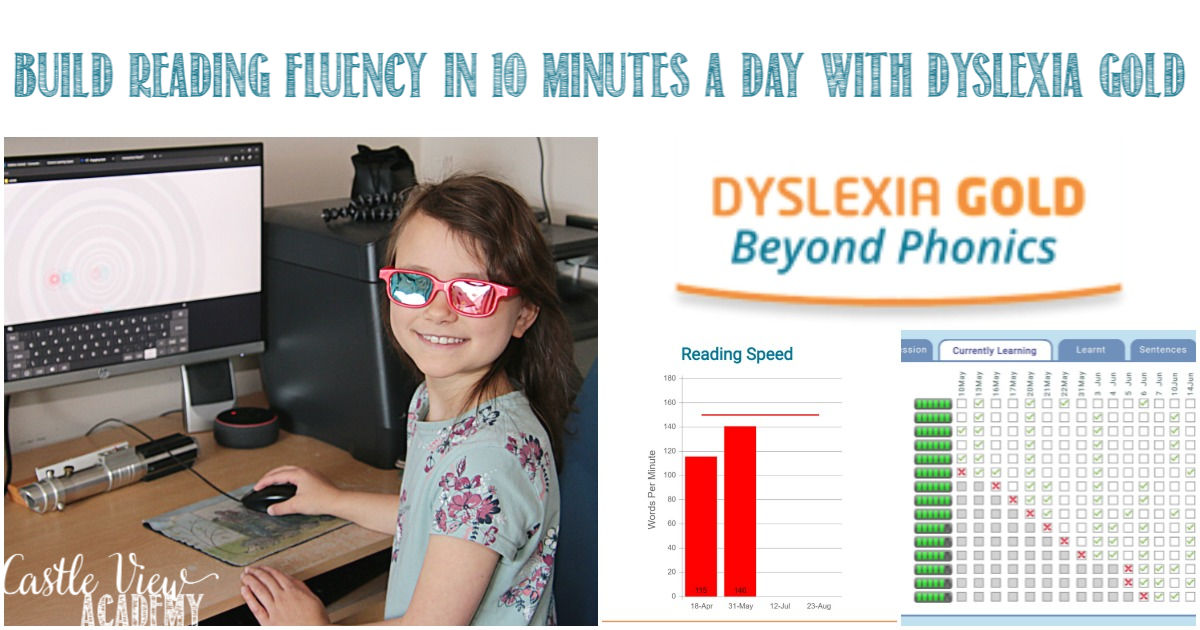 Build Reading Fluency In 10 Minutes a Day, Dyslexia Gold Review by Castle View Academy homeschool