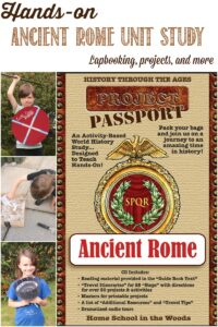 HSITW Hands-on Ancient Rome Unit Study Review by Castle View Academy
