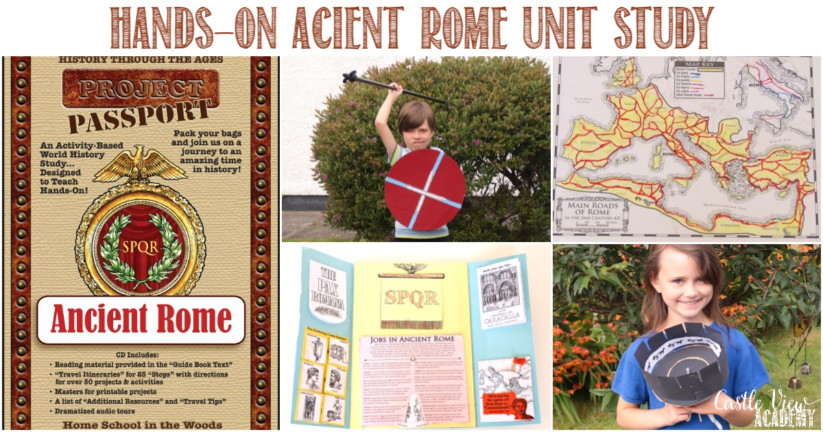 HSITW Hands-on Ancient Rome Unit Study Review by Castle View Academy homeschool