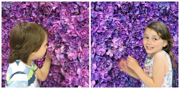 Purple Flower Wall