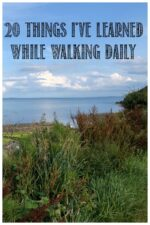 20 Things I've Learned While Walking Daily - Castle View Academy homeschool