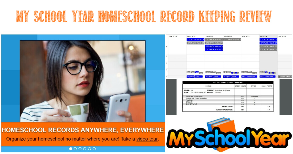 My School Year Homeschool Record Keeping Review by Castle View Academy