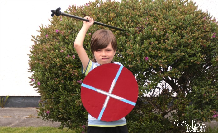 Roman Shield at Castle View Academy homeschool
