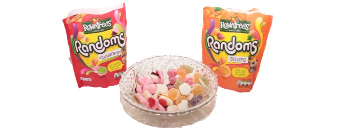 Rowntrees randoms sours and squish'ems