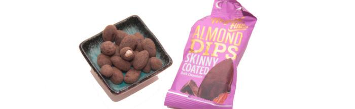 Almond Dips Skinny Coated Dark Chocolate