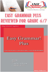 Easy Grammar Plus Reviewed For Grade 6-7 by Castle View Academy homeschool