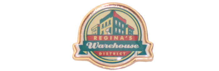 Regina Warehouse lapel pin