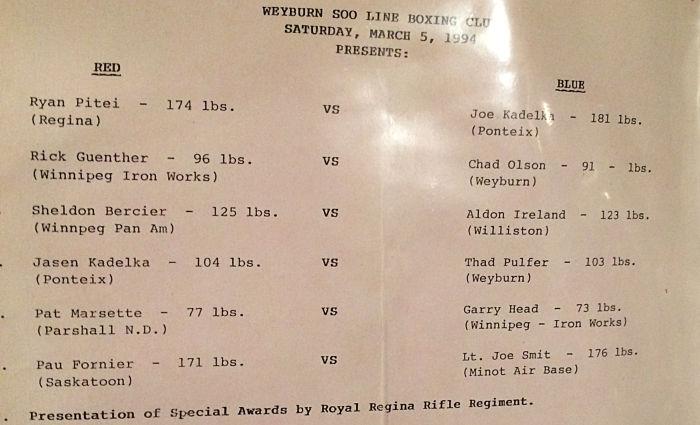 Weyburn Boxing Card