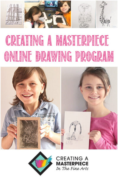 Creating A Masterpiece Online Art Program Reviewed by Castle View Academy homeschool