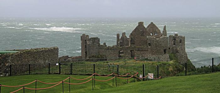 Dunlulce Castle, County Antrim, Northern Ireland, United Kingdom, North coast of Ireland