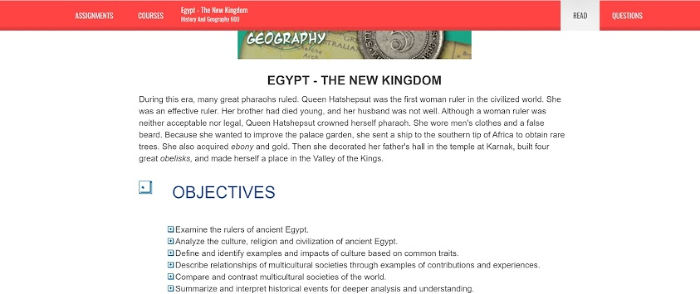 Egypt objectives