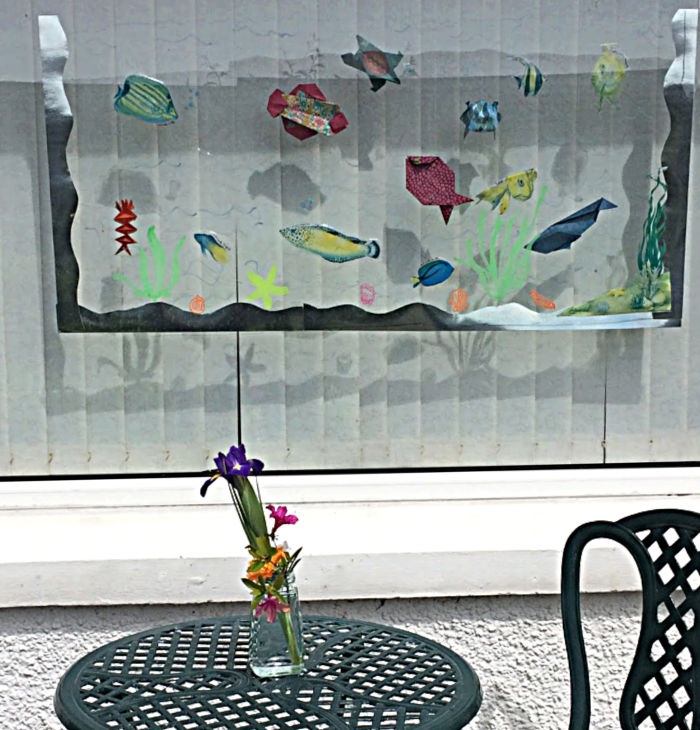 Fish tank with origami