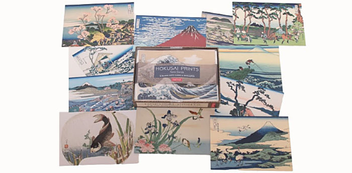 Hokusai note cards