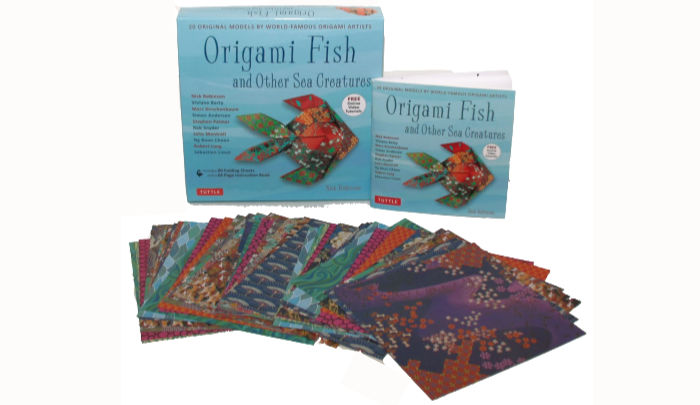 Origami fish kit contents