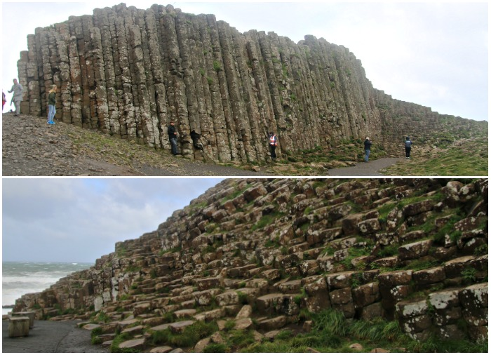 Giant's Causeway in the wind