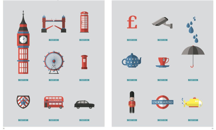 English cultural icon vector images