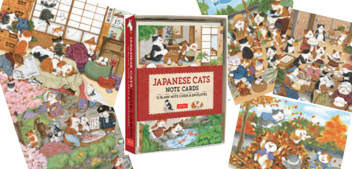Japanese Cats Note Card designs